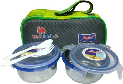Fair Food STAINLESS STEEL 2 Containers Lunch Box(700 ml)