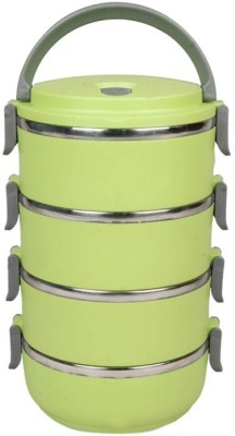 Hengli Stainless Steel Green 4 Containers Lunch Box