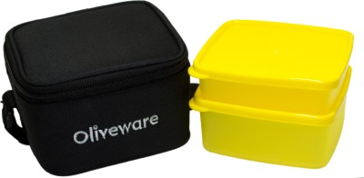 Oliveware LB49black 2 Containers Lunch Box