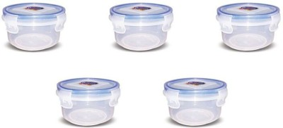 eGizmos Quick Lock Polypropylene (Pack of 5) 250ML Round Shape 5 Containers Lunch Box