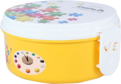 FabSeasons LBX09yellow 2 Containers Lunch Box