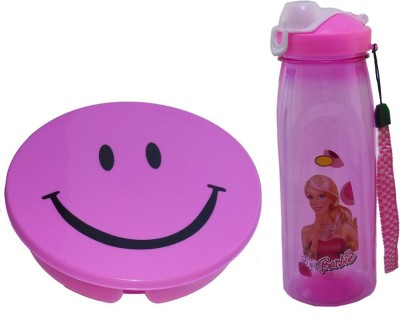 Infinxt Stylish Smiley Pink 1 1 Containers Lunch Box