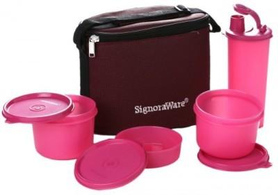 Signoraware Combo Executive Medium (Pink) 4 Containers Lunch Box(1580 ml) at flipkart