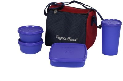 Signoraware Best Lunch Box (with Bag) 4 Containers Lunch Box