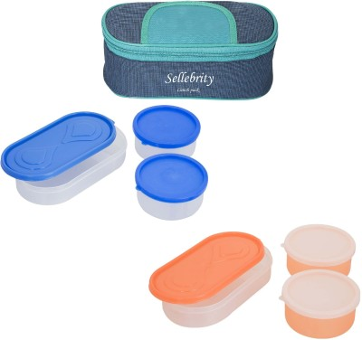 Sellebrity Best Solace With 3 Boxes 6 Containers Lunch Box(1300 ml)