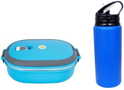 i-gadgets Insulated with Metal 600ml Bottle 1 Containers Lunch Box