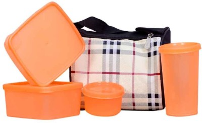 Topware check_orng 4 Containers Lunch Box(900 ml)