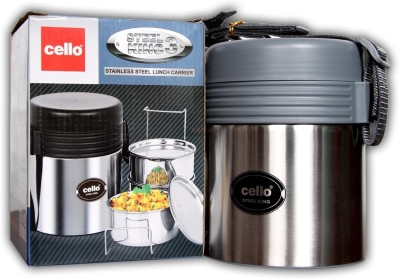 Cello Steel King 3 3 Containers Lunch Box