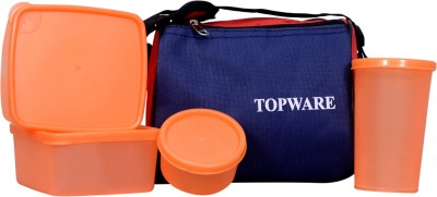 Topware topblue_orng 4 Containers Lunch Box(900 ml)