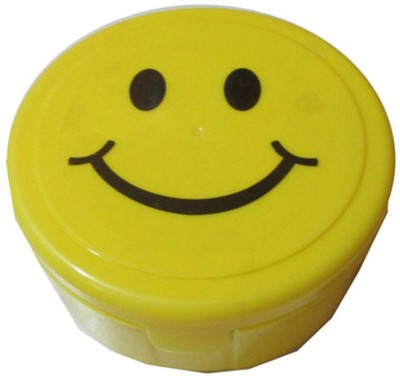 Goldcave 1 Round Smiley 2 Containers Lunch Box