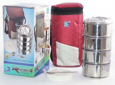 Stenso Race 4 Red Colour 4 Containers Lunch Box