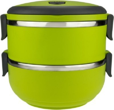 Home Union Two Layer Round 2 Containers Lunch Box