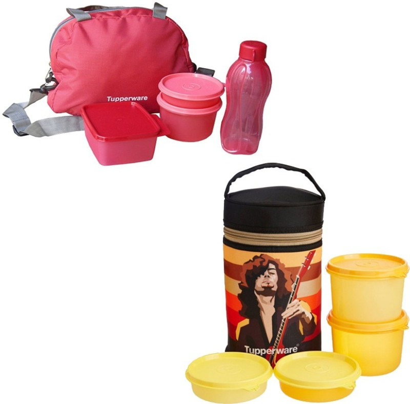 Tupperware Sling A Bling 8 Containers Lunch Box(500 ml)