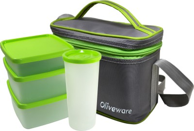 Oliveware LB53Green 4 Containers Lunch Box