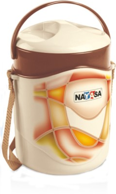 Nayasa Zeal Brown 2 Containers Lunch Box