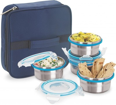 Steel Lock HL HL 1241 4 Containers Lunch Box