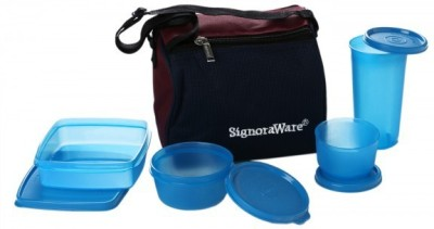 Signoraware Best - Blue (980ml) 4 Containers Lunch Box