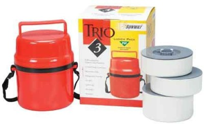 Sunway Trio-Lunch-Box-2 3 Containers Lunch Box