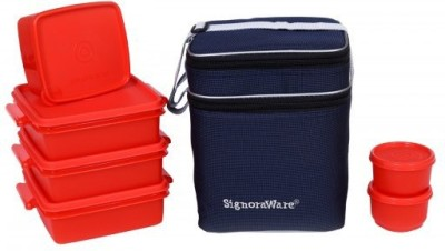 Signoraware Family Pack Lunch Box -Red 6 Containers Lunch Box