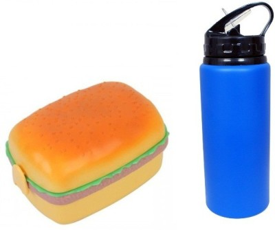 i-gadgets Burger Lunch Box with Sipper Bottle 3 Containers Lunch Box