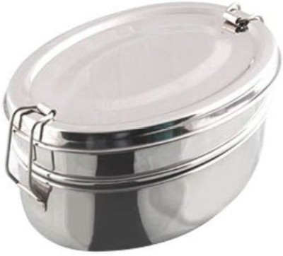 Mayur exports 2 Tier Stainless Steel Lunchbox 2 Containers Lunch Box
