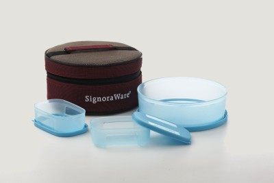 Signoraware Classic Lunch Box (with Bag) 3 Containers Lunch Box