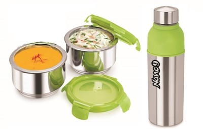 Nano 9 Fruit & Salad Insulated with Energy Cool Bottle 2 Containers Lunch Box