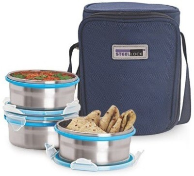 Steel Lock Hl-1431 3 Containers Lunch Box