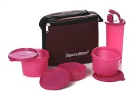 Signoraware 521 Combo Executive (Medium) With Bag 4 Containers Lunch Box(1580 ml)