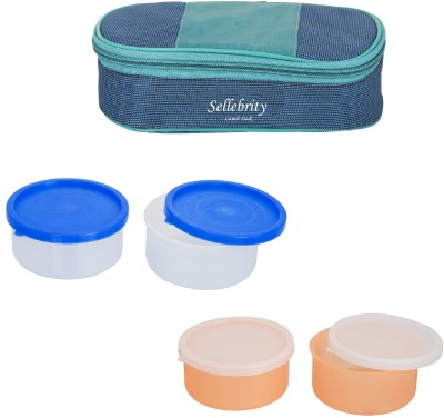 Sellebrity Royal Multi colour With 2 Boxes 4 Containers Lunch Box(800 ml)