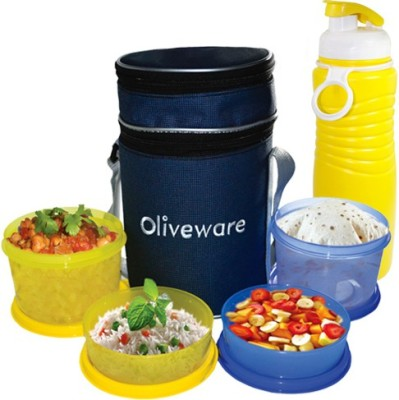 OLIVEWARE LB36plus 4 Containers Lunch Box(1450 ml)