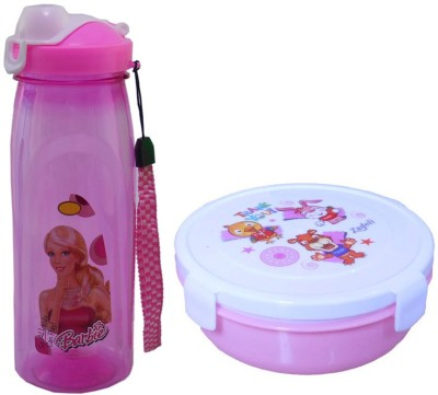 Infinxt Stylish Happy Kids Pink 1 Containers Lunch Box