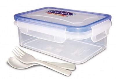 eGizmos Quick lock Polypropylene 500ML Rectangle Shape 1 Containers Lunch Box