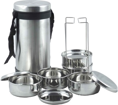 JVL Hot Tiffin 5 Containers Lunch Box