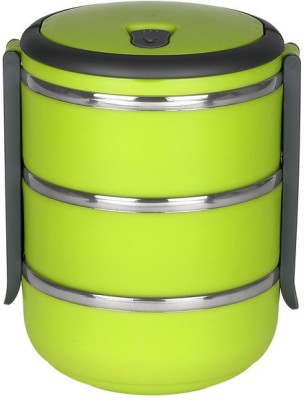 Cosmosgalaxy Layer Single Lock-Green 3 Containers Lunch Box