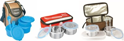 Carry Best food ,Royel food N classic3 3 Containers Lunch Box(750 ml)