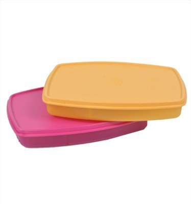 sunvi TUPPERWARE CLASSIC SLIM LUNCH BOX SET OF 2 2 Containers Lunch Box