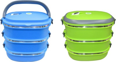 Blue Birds Blue Birds Container Lunch Box 3 Containers Lunch Box
