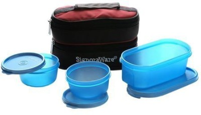 Signoraware Healthy Lunch Box with Bag 3 Containers Lunch Box