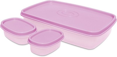 Milton I Fresh 1000ml With 2 Inner Plastic Containers, Purple 3 Containers Lunch Box(1000 ml)