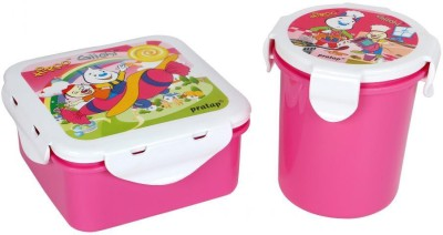 Pratap Hyper Locked Container set Junior Pink 2 Containers Lunch Box