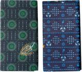 SAMSINI Printed Dark Green, Blue Lungi