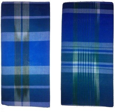 spicegold Self Design green-blue kattari Lungi