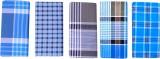 SAMSINI Checkered Multicolor, Blue Lungi