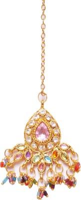 Traditsiya Stone Studded Jewelry Alloy Maang Tikka