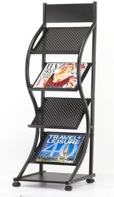 Chrome Floor Standing Magazine Holder