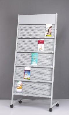 Chrome Super Stand Floor Standing Magazine Holder