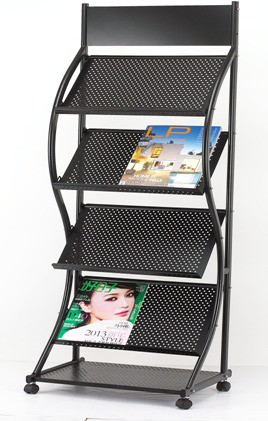 Chrome Floor Standing Magazine Holder