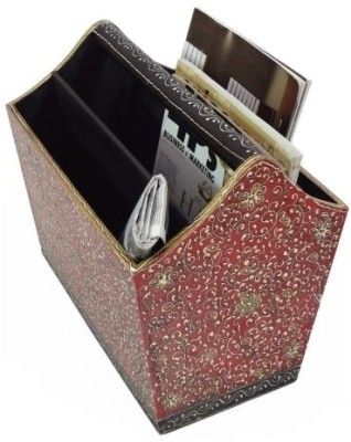 Artlivo Bold Red Table Top Magazine Holder