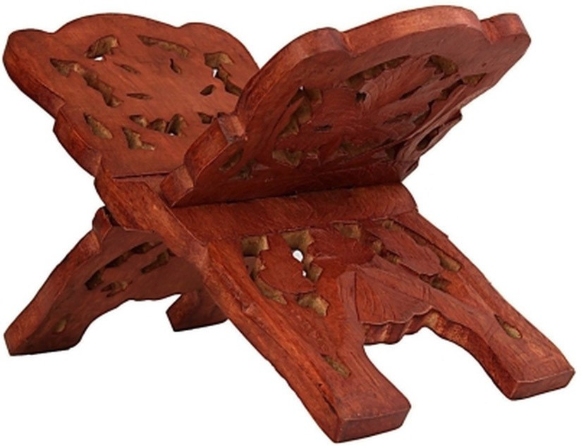 View Craftatoz Floor Standing Magazine Holder(Brown, Wooden) Furniture (Craft Art India)
